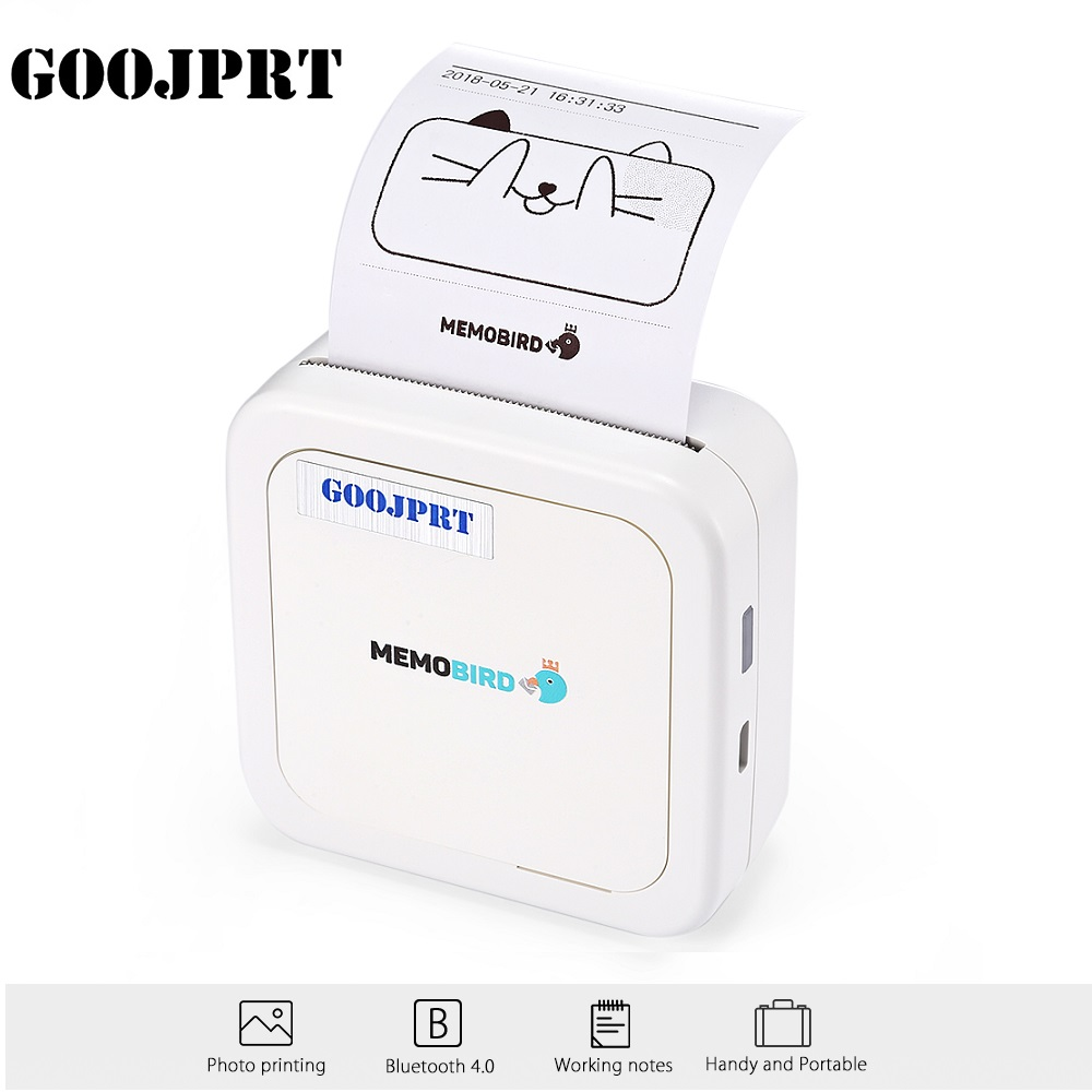 GOOJPRT G3 MEMOBIRD Mini imprimante thermique Bluetooth imprimante papier Photo impression thermique pour iOS et Android