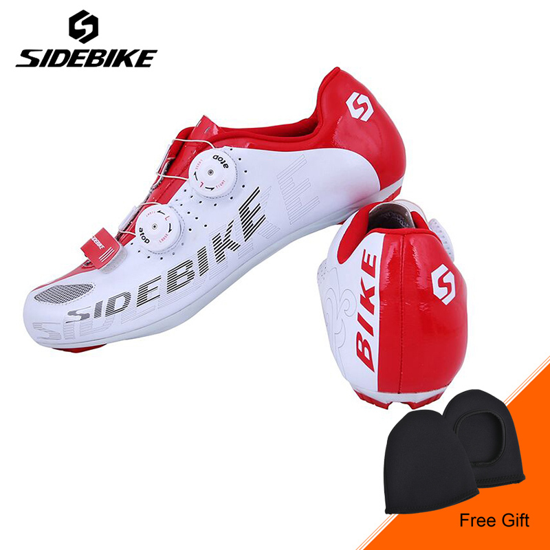 Sidebike Road Cycling Shoes Men Non-slip Breathable Bicycle Shoes Lightweight Self-Locking Bike Bicycle Shoes Sapato Ciclismo sidebike mtb bike shoes carbon fiber cycling shoes men breathable non slip self locking road bike shoes bicycle sneaker shoes