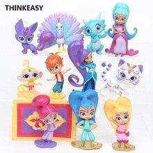 ThinkEasy 12 pcs/set Kid my cute Shimmer little and Anna Sofia Princess dress Toy Action poni Shinny Unicorn vinyl dolls