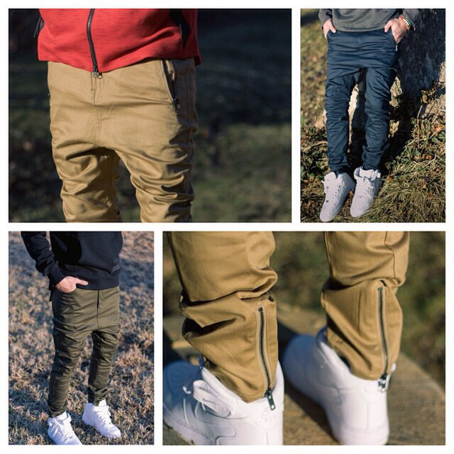 M 2XL Khaki/Navy/Black brand publish waterproof mens zipper pants ...
