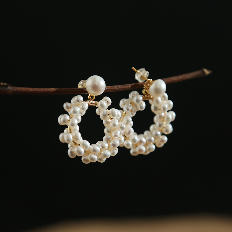 Luxury White Freshwater Pearls Drop Earings For Women Trendy Wedding Party Earing Handwork Jewelry Box Package Gift Do Not Fade in Drop Earrings from Jewelry Accessories