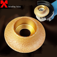 74 10 Diamond Segment Grinding Vacuum Brazed Diamond Profile Grinding Wheel For Demi Bullnose Vacuum Brazed