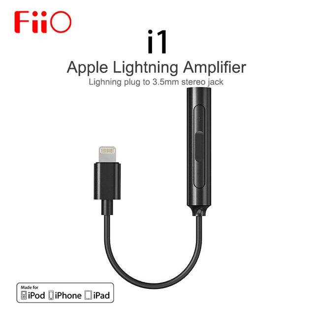 online store 278a2 43a90 US $49.99 |Fiio i1 (Fi 1123) Amplifier DAC with Microphone made for iPhone  X / iPhone 8 Lightning plug To 3.5mm stereo jack-in Headphone Amplifier ...