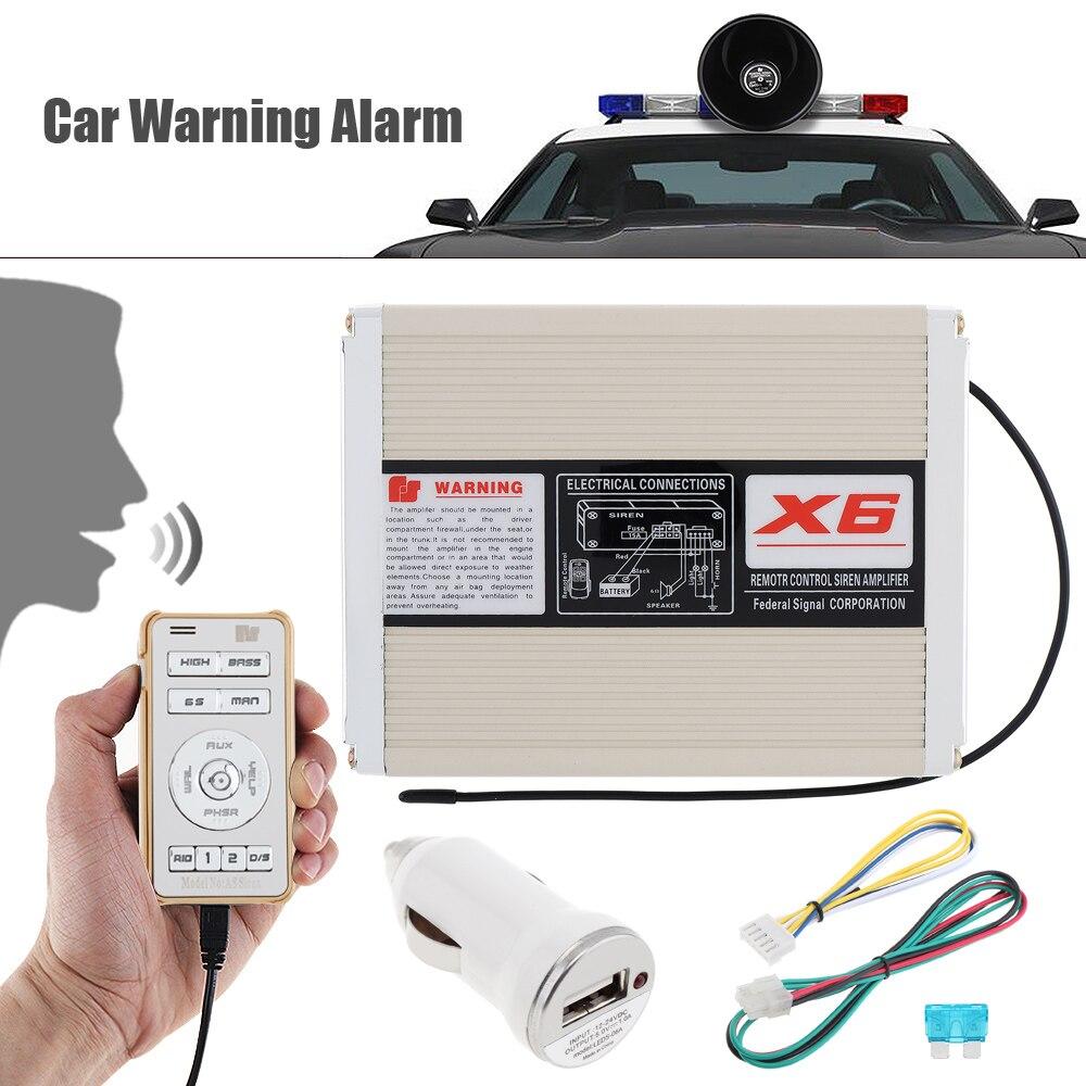 200 W 18 tons Durable alarme de voiture sirène klaxon haut-parleur système MP3 boîte hôte à distance