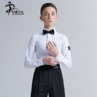 לבן סלוניים לטיני קצב ריקוד ילד ילד ילד חולצה 14