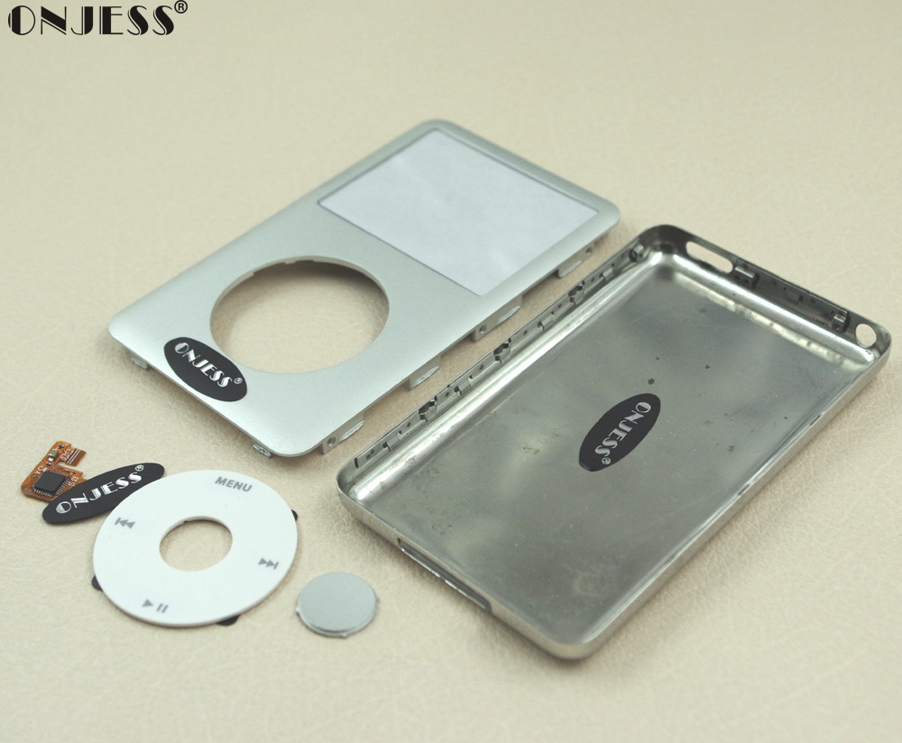 Silver Faceplate Housing back Case  for iPod 6th Classic Thick 160GB