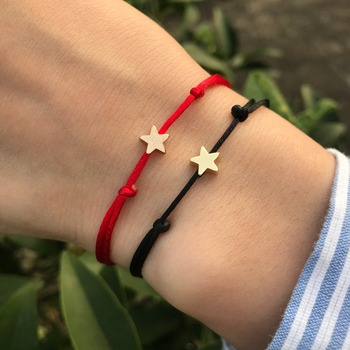 KEJIALAI Simple Star String Bracelet Adjustable Braiding Lucky Macrame Rope Bracelets For Women Men Children Handmade Jewelry 5