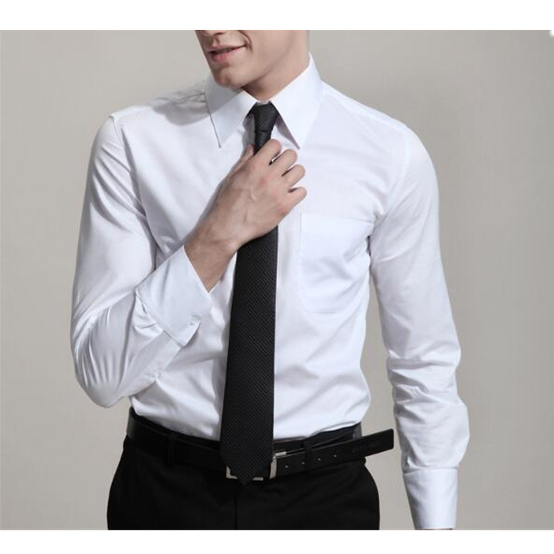New hot men's shirt men's slim fashion long sleeved shirt men's professional dress business casual shirt
