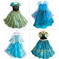 Children Dress Girl Princess Dress Elsa Anna Dress Summer Long-Sleeve Diamond Dress Costume, Four Designs, Size 110-150, LC01