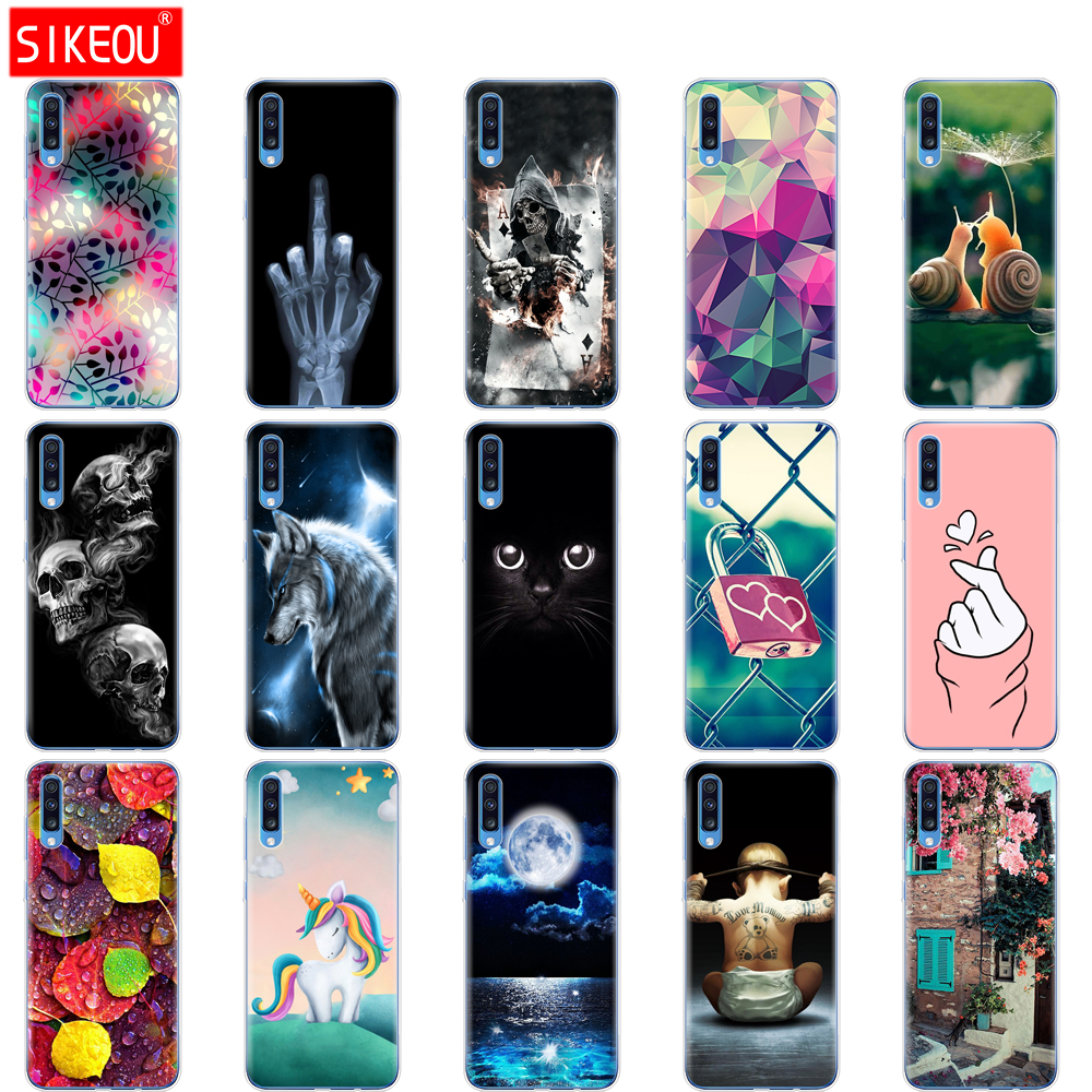 For <font><b>Samsung</b></font> <font><b>A70</b></font> Case <font><b>2019</b></font> Soft TPU Phone Back <font><b>Cover</b></font> For <font><b>Samsung</b></font> Galaxy <font><b>A70</b></font> silicon Cases Coque Capa A 70 A705 A705F bumper Cat image