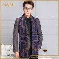 2016 Новый Модный Полосатый Шарф Зимы Мужчины Классический Бизнес Шали Шарфы С Кисточкой