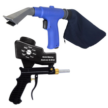 2 in 1 Set Portable Airbrush Air Vacuum Blower Suction Spray Gun Sand Blaster Pneumatic Gun Set with Accessorries Tool / Black цена