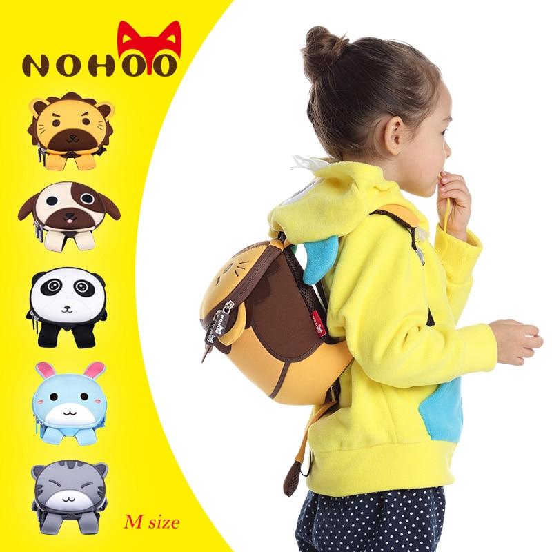 NOHOO M Size Animals Printied School Backpacks Children Waterproof Cartoon Kids School Bags Girls Mochila Escolar mochila escola nohoo tiger type neoprene backpacks
