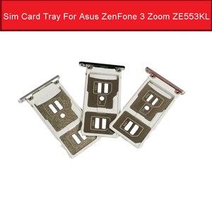Держатель гнезда для SIM-карты для Asus ZenFone 3 Zoom ZE553KL Sim SD кардридер адаптер запасные части для ремонта