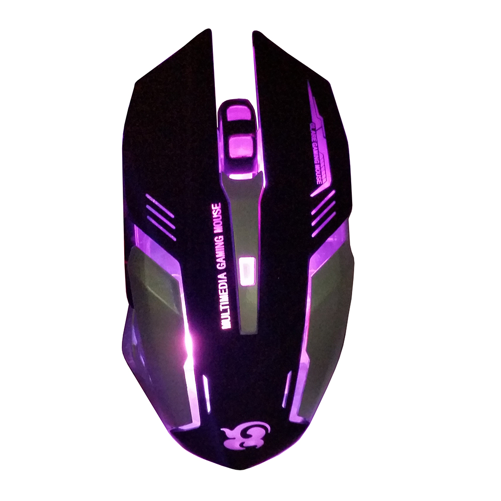 100% 3200DPI <font><b>7</b></font> LED Optical 6D Button USB Wired Game Mouse professional desktop mouse C25 image