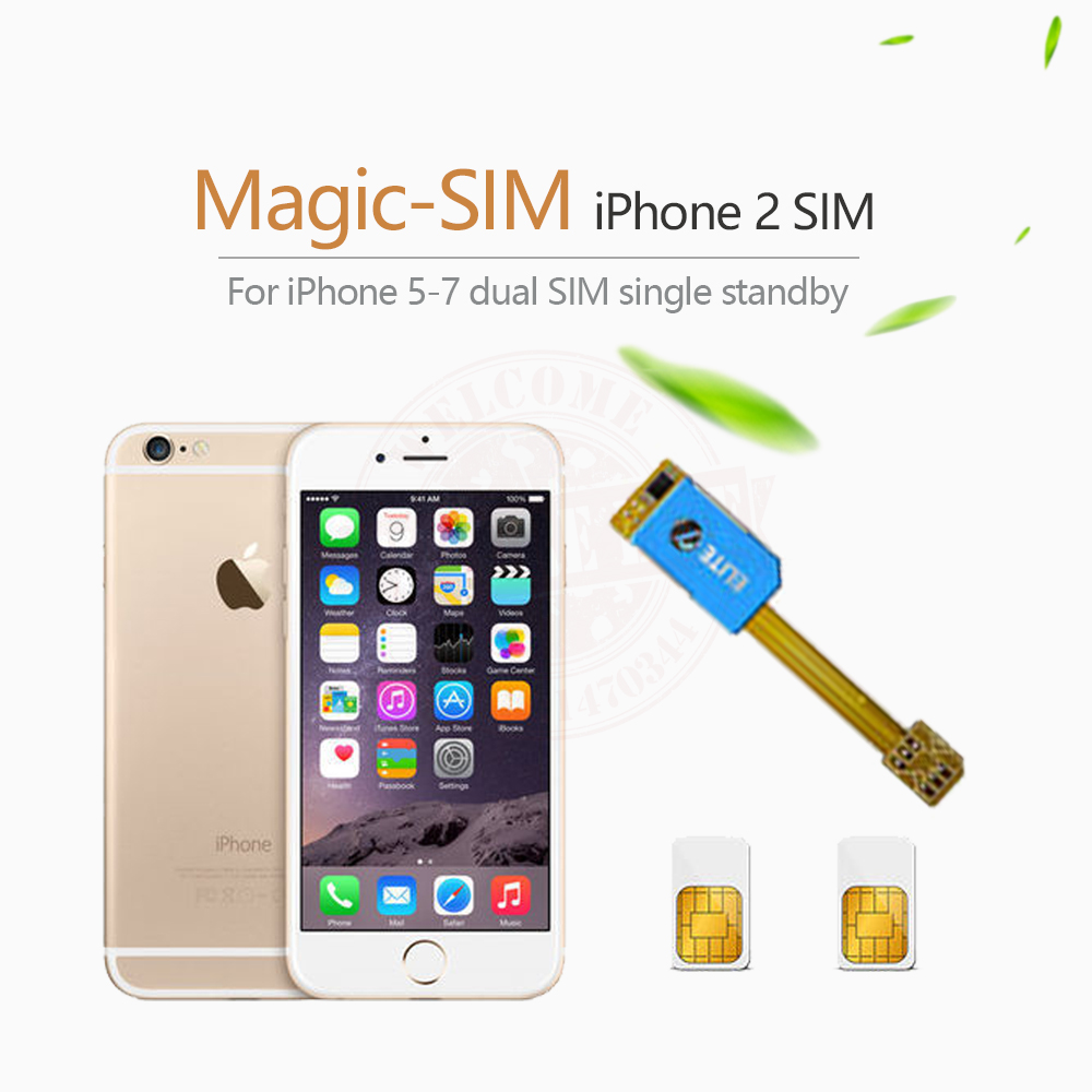 hot sales b2730 015c7 US $5.99 |Magic SIM Dual 2 Sim Card Adapter Slot Single Standby For iPhone  5 /5s /5c /6 /6s /6plus /6s plus-in Mobile Phone Cables from Cellphones &  ...