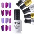 HNM 24 Colors Gel Polish Pink Purple Series Gel Nail Polish LED UV Gel Lak Long Last Gel Varnish Gelpolish Vernis Semi Permanent
