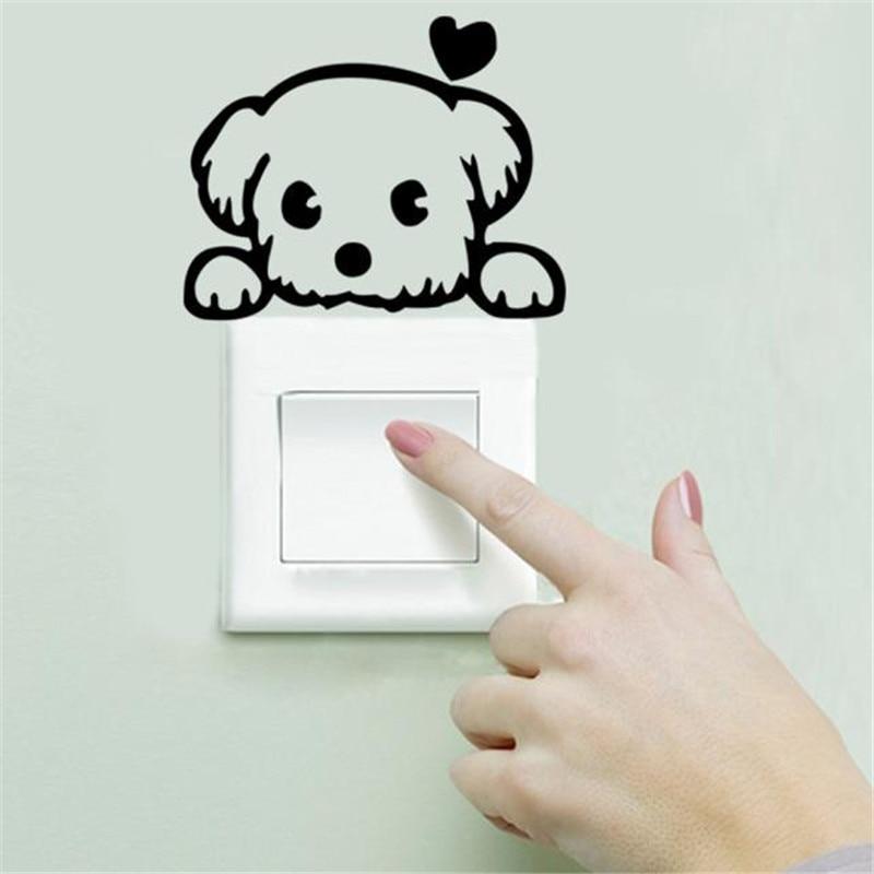 Room Window dog shape Wall Decorating Switch Vinyl Decal Sticker Decor Cartoon hot sale on J10