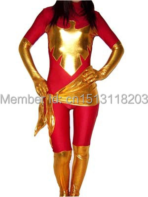 X-Men Dark Phoenix superhero Costume full body red Phoenix  costume haoolween costume free shipping