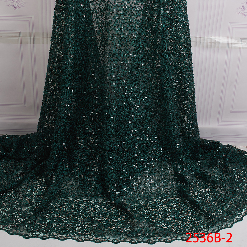 High Quality Design Lace Dress African Green Lace Fabric Tulle Fabric With Rhinestones Wedding Fabric Lace QF2536B-3High Quality Design Lace Dress African Green Lace Fabric Tulle Fabric With Rhinestones Wedding Fabric Lace QF2536B-3