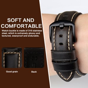 Image 3 - MAIKES Watch Accessories Watch Strap 20mm 22mm 24mm 26mm Vintage Cow Leather Watch Band For Panerai Fossil Watchband