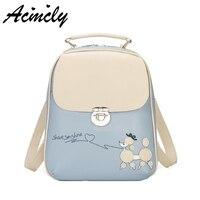 Fashion Women Backpack College Style Good Quality School Backpacks Teenage Girls Women Pu Leather Backpack Mochila