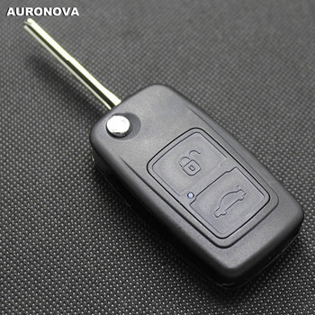 AURONOVA New Flip Folding Key Shell for Chery A3 A5 Fulwin 2 Cowin 1 2 3 Tiggo E5 Riich X1 Remote Car Key Case Shell Cover image