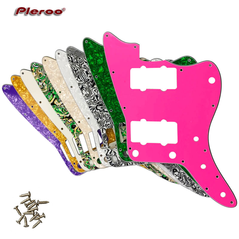 Pleroo Custom Guitar Parts - For US No Upper Controls Jazzmaster Style Guitar Pickguard Replacement