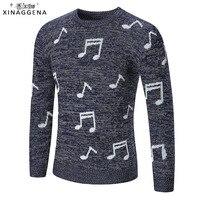 2017 marke Neue Pullover Pullover Herbst Winter Musik Element Gestrickte Qualität Männer Oansatz Fashion Style Casual Männer Pullover XXL