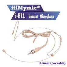 Iiimymic i-H11! Pro гарнитура головной конденсаторный микрофон для Sennheiser wireless Body-Pack передатчик мм 3,5 мм Винт запирающий штекер