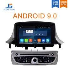JDASTON Android 9,0 автомобильный dvd-плеер для RENAULT Megane Fluence 3 2009-2013 Восьмиядерный 4G + 32G Мультимедиа gps стерео wifi радио RDS