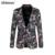 2016 Nova Vintage Top Paletó Plus Size M-6XL Homens Os Clientes de Negócios Slim Fit Flor Floral Casual Blazer Moda Terno jaqueta