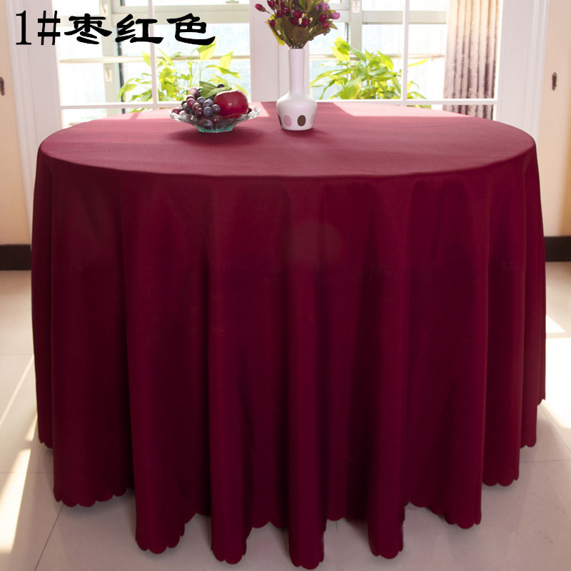 Free Shipping 10pcs Burgundy Polyester Round Table Cloths