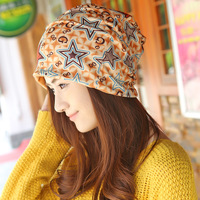 Femme Skullies Unisex Autumn Beanies Winter Warm Chapeau Women Hat Female Knitted Cap Ladies Pattern Star