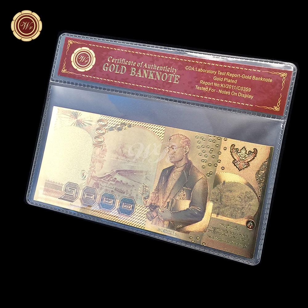 Us 1 Miliar Dolar Uang Kertas 999 24 Karat Foil Emas Berlapis Nilai Mexico 100 Peses 1982 K197 Thailand 1000 Baht Souvenir Koleksi Di