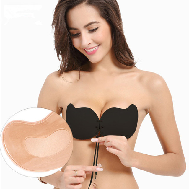 eaacf0eff1feb Women Fly Bra Push Up Invisible Silicone Strapless Bralette Sexy Bras for  Women Wedding Party Magic Adhesive Lingerie