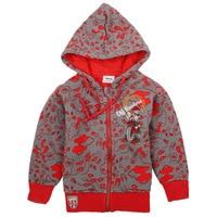 Cinza blazer vermelho meninos hoodies zíper esportes desgaste moletons jacket roupas de ano novo das crianças do bebê se adapte às crianças roupas de algodão