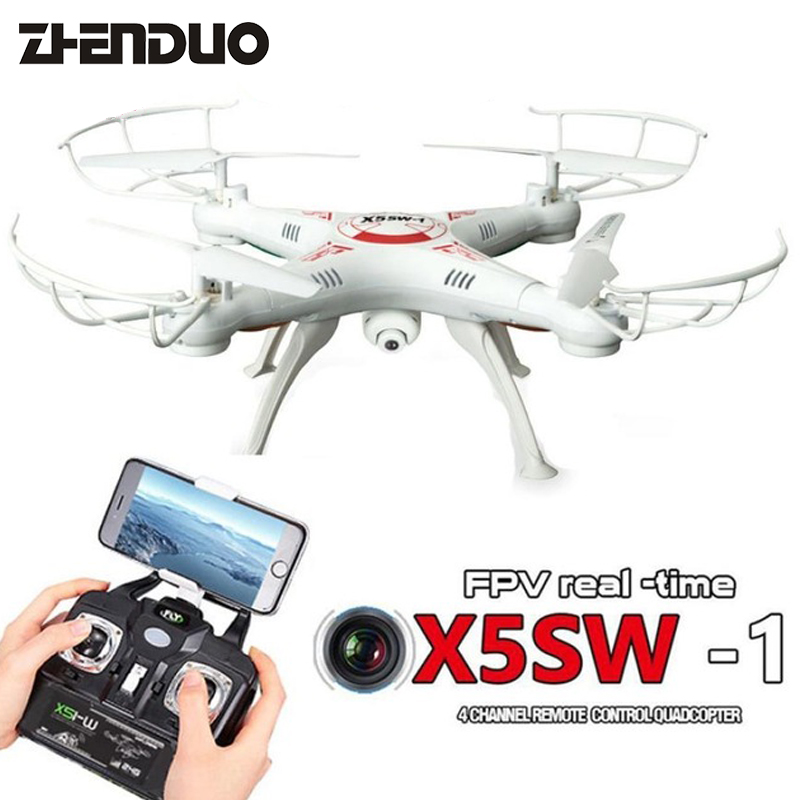 X5SW-1 WIFI RC Drone With Camera FPV Quadcopter With Camera 2.4G RC Helicopter 6-Axis Drone Professional RC Helicopter toys original syma x5sw x5sw 1 fpv rc quadcopter rc drone with wifi camera hd 2 4g 6 axis rc helicopter toys with 5 battery vs x5c