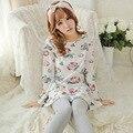 Новый 2015 Pyjama роковой домашней одежды Pigiami Pijamas Mujer Pijama Feminino Pijama Entero приключения время пижамы женщин пижамы