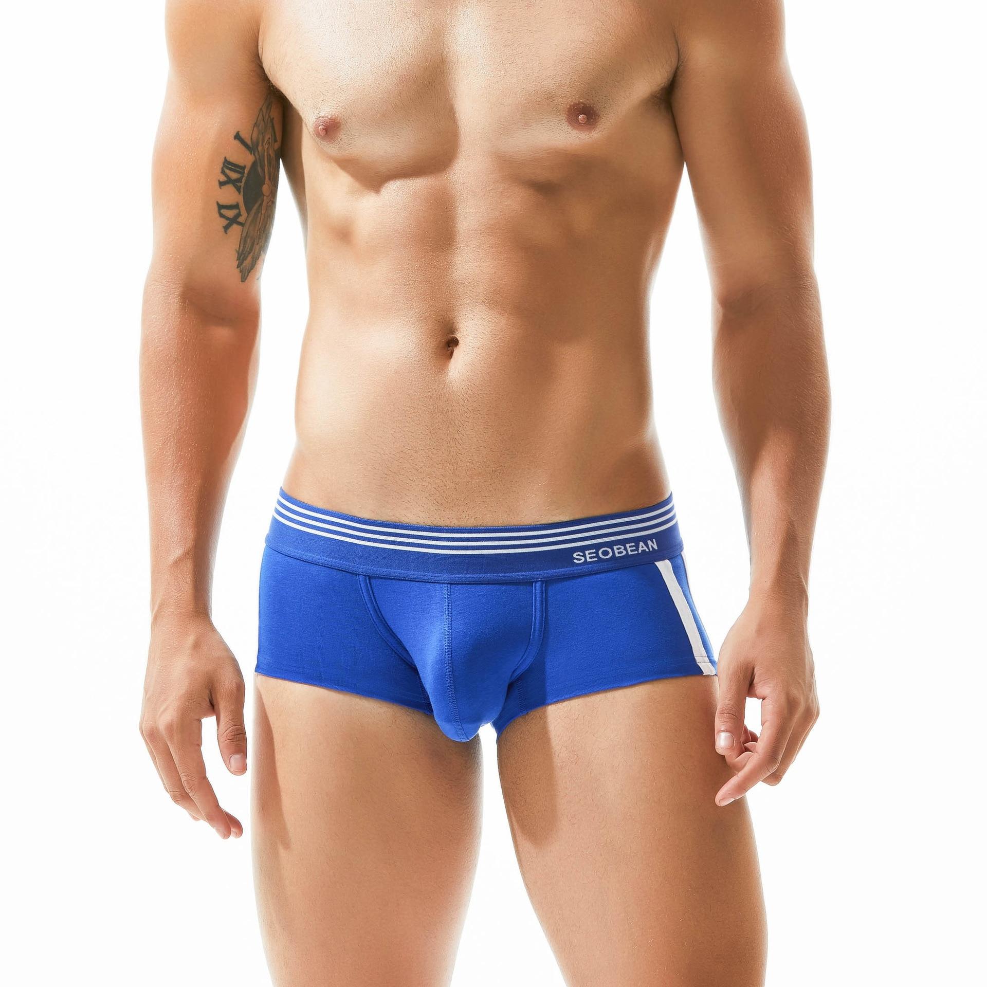 Cotton Men's Underwear Sexy Boxers Trunks Gay Penis Pouch Tight Boxershorts Men Ropa De Hombre 2018 calsoncillos hombre