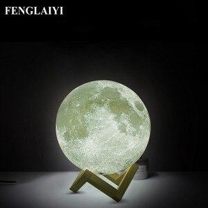 Moon Lamp Led Night Light 3D P