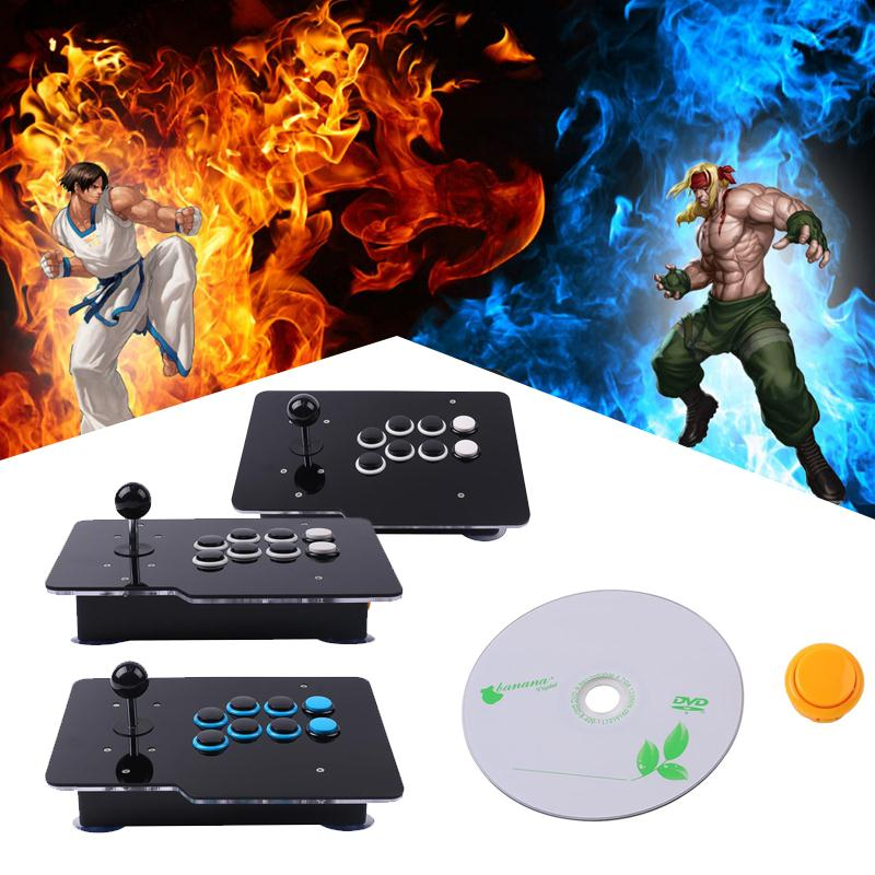 все цены на USB Arcade Joystick Controller 8 Directional Buttons Rocker Wired For PC Android онлайн