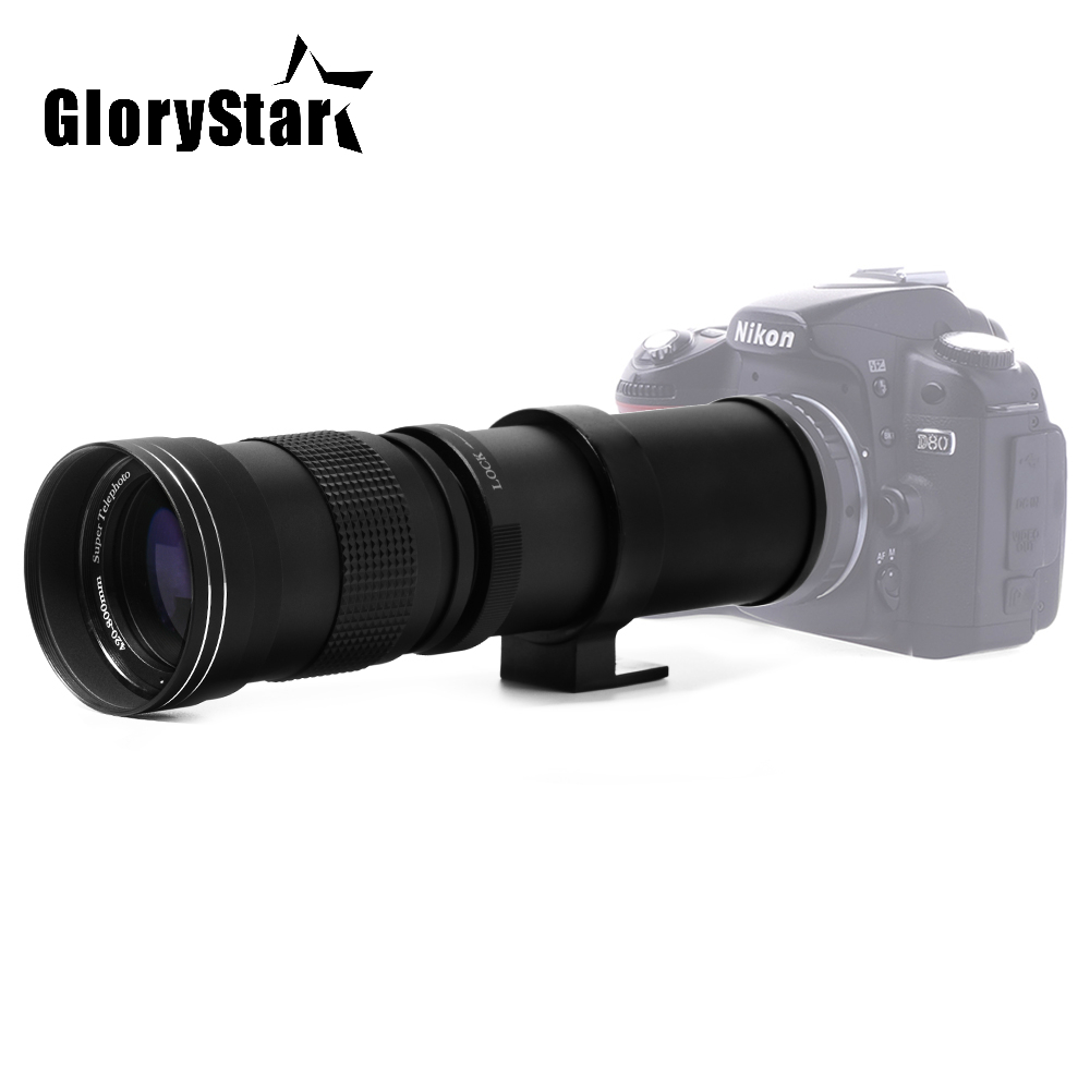 цена на Glory Star 420-800mm F/8.3-16 Super Telephoto Lens Manual Zoom Lens for Canon Nikon Sony Pentax DSLR Camera