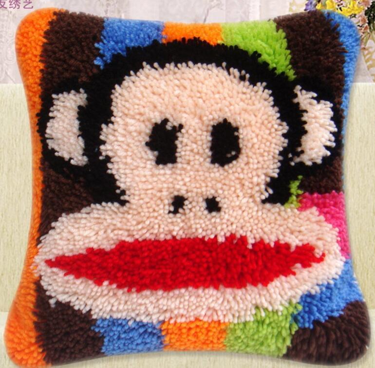 5d Cuscino ricamo tappeto coperta di lavoro a maglia ago feltro artigianale tappeto cuscino blocco gancio punto croce animale Or