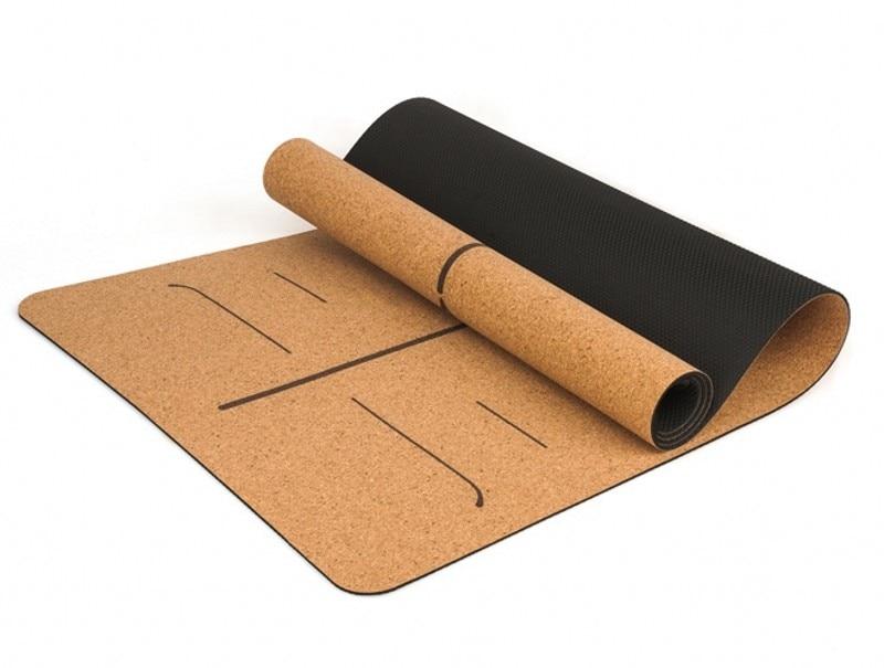 5mm Cork Rubber Yoga Mat For Hot Yoga 2