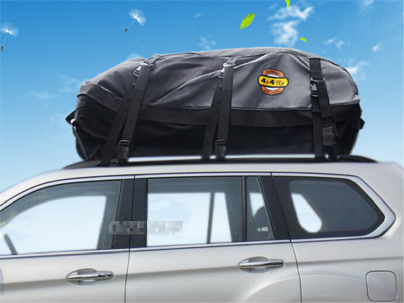 Universal Waterproof SUV Roof Top Cargo Carrier Bag Luggage Travel Storage Case Car Accessories In Chromium