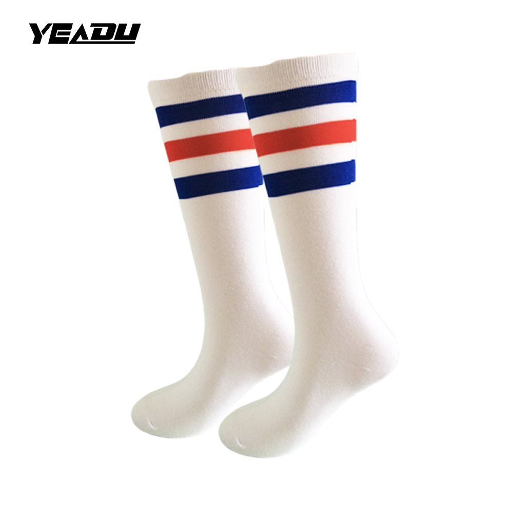 7 Farben Cotton Long Herren und Damen Socken 3 Line Striped Letter Fashion Socken