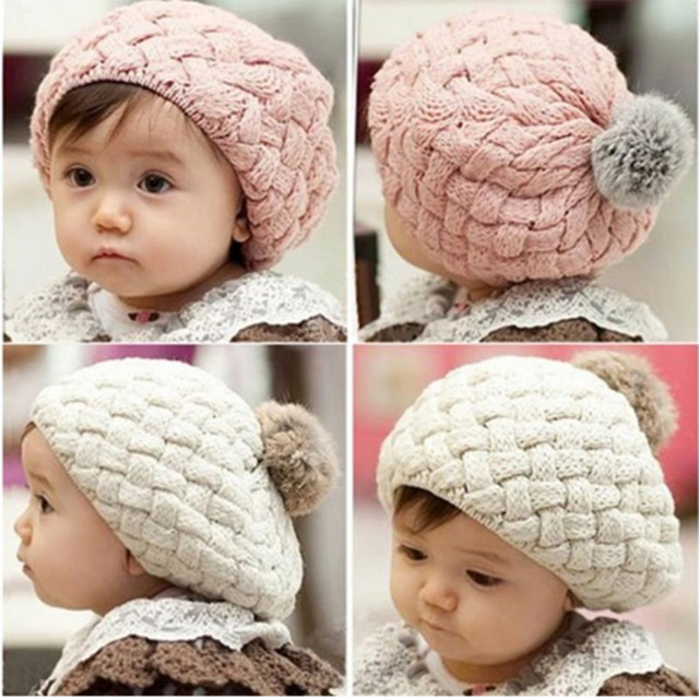 0e7a37f59e8 DreamShining Fashion Baby Hat Newborn Photography Props Beanie Knitted Cap  Crochet Toddler Caps Boys Girs Winter Warm Hats