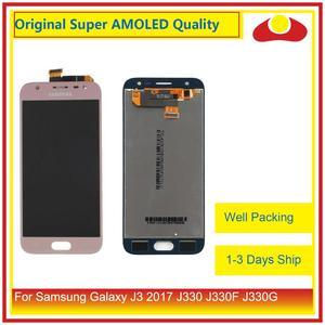"Image 2 - מקורי 5.0 ""עבור Samsung Galaxy J3 2017 J330 LCD תצוגה עם מסך מגע Digitizer פנל Pantalla מלא J3 פרו 2017 LCD"