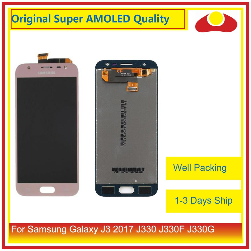 """Image 2 - Original 5.0"""" For Samsung Galaxy J3 2017 J330 LCD Display With Touch Screen Digitizer Panel Pantalla Complete J3 Pro 2017 LCD-in Mobile Phone LCD Screens from Cellphones & Telecommunications"""